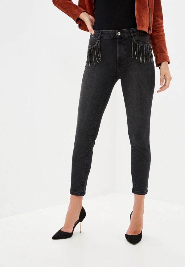 женские джинсы скинни calzedonia, черные
