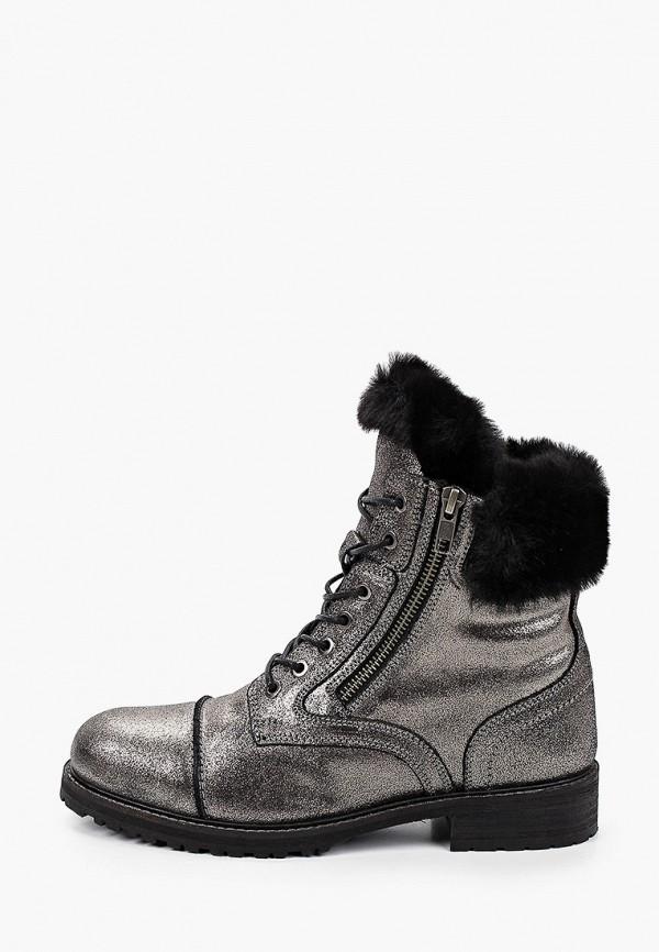 женские высокие ботинки riveri, серебряные