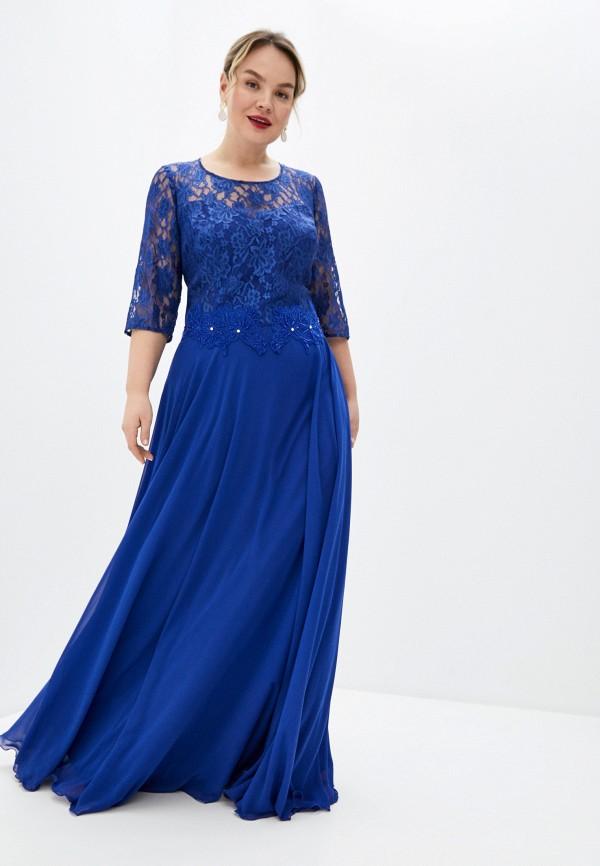 женское вечерние платье milomoor, синее