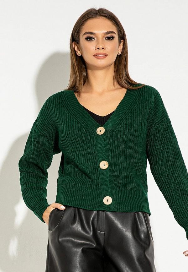 женский кардиган itelle, зеленый