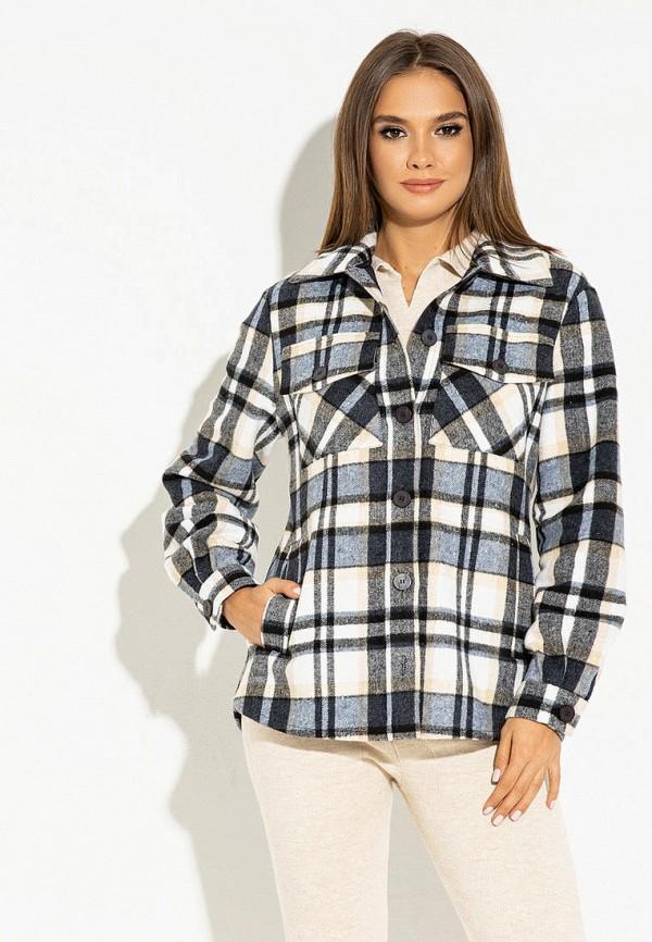 женская рубашка с длинным рукавом itelle, серая