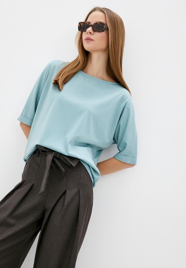 женская блузка с коротким рукавом ruxara, бирюзовая