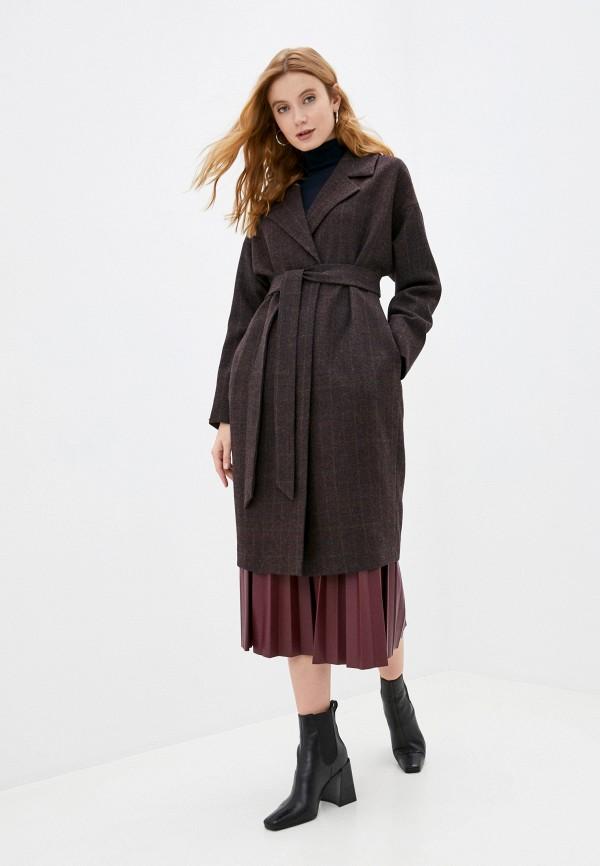 женское пальто ruxara, бордовое
