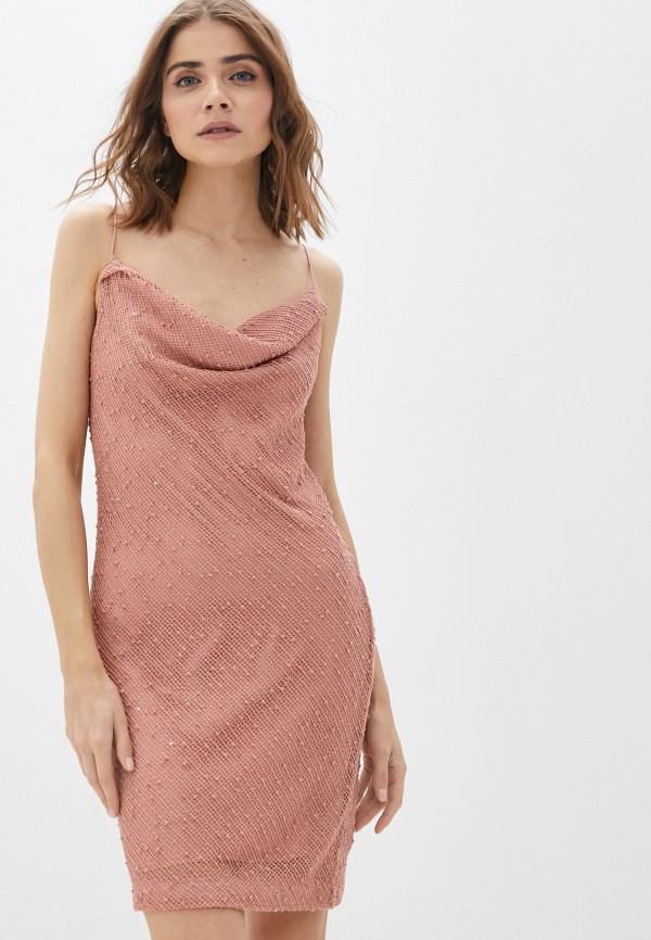 женское платье-комбинация ruxara, бежевое