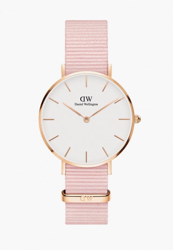 женские часы daniel wellington, розовые