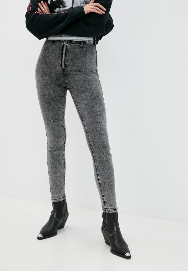 женские джинсы скинни befree, серые