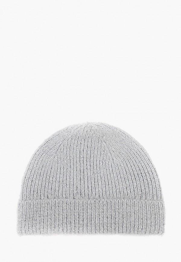 женская шапка befree, серебряная