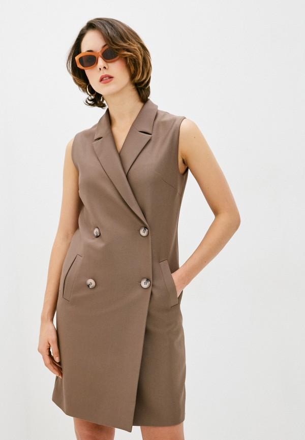 Платье Argent коричневого цвета