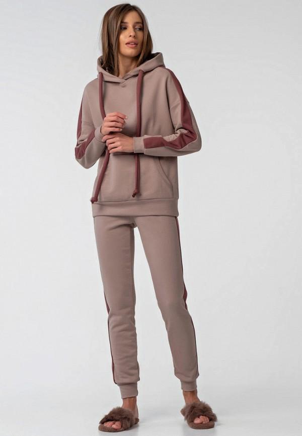 женский спортивный костюм fly, коричневый