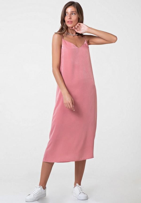 женское платье-комбинация fly, розовое