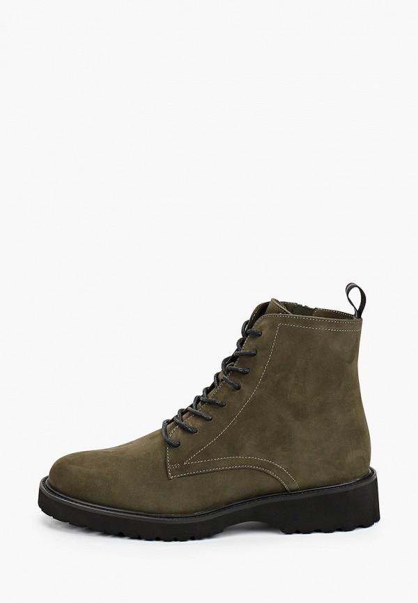 женские высокие ботинки giotto, зеленые