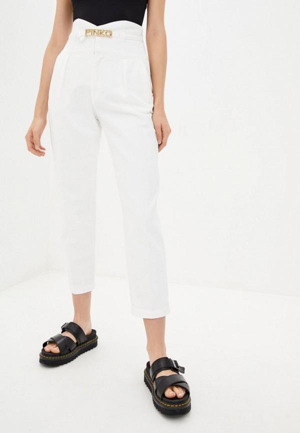 женские прямые джинсы pinko, белые