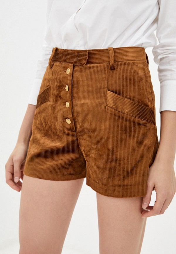 женские повседневные шорты pinko, коричневые