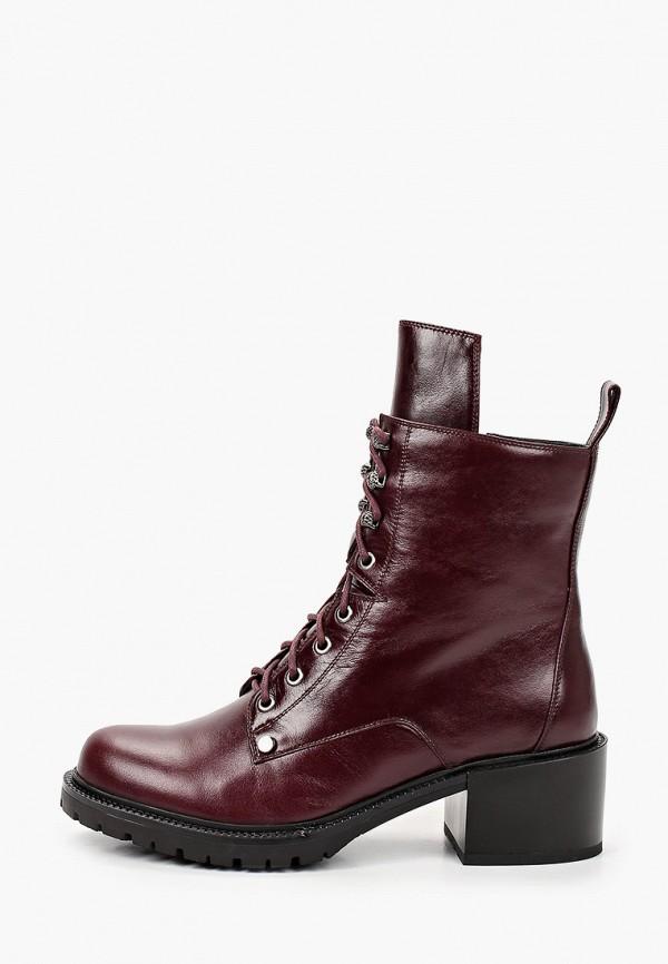 женские высокие ботинки mascotte, бордовые