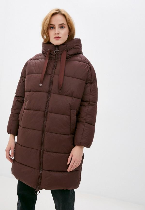 женская утепленные куртка befree, коричневая