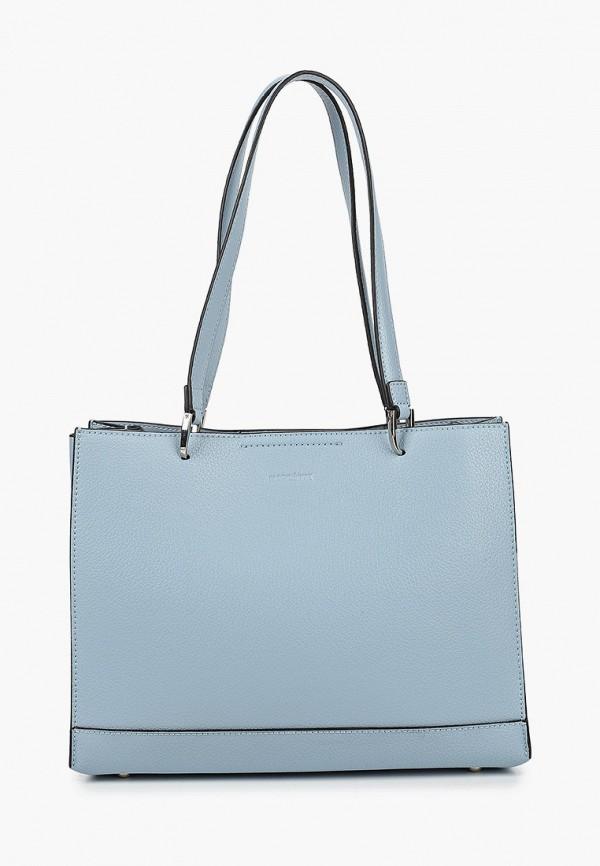 женская сумка с ручками mascotte, голубая