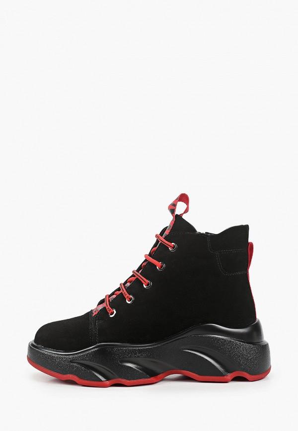 женские высокие ботинки palazzo d'oro, черные