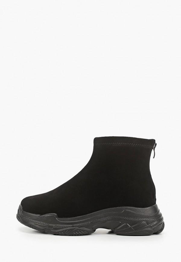 женские высокие ботинки abricot, черные