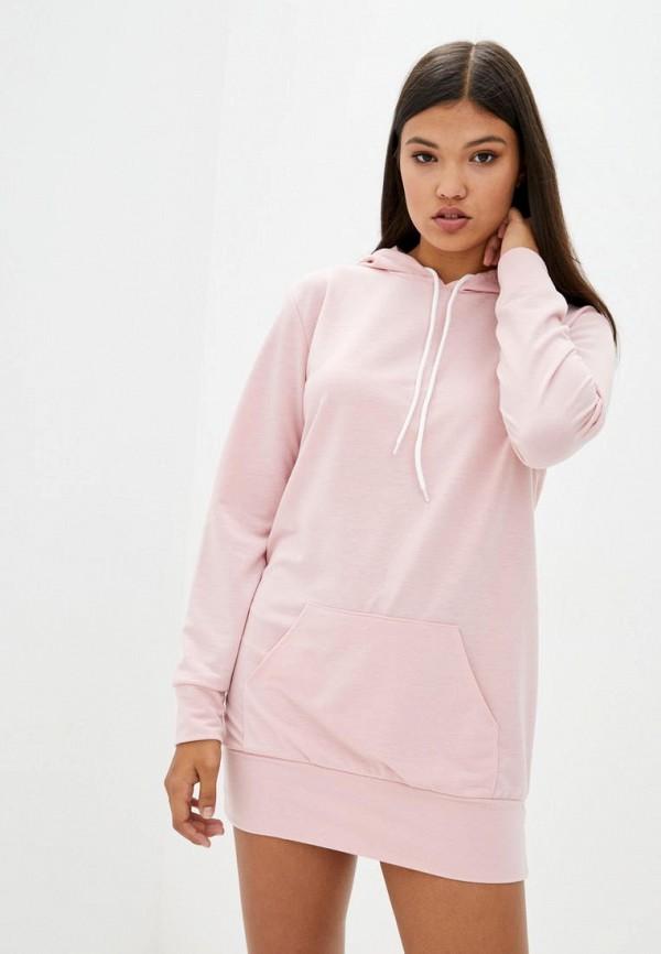 женское платье подіум, розовое