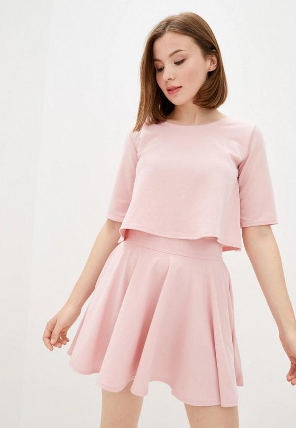 женский костюм подіум, розовый