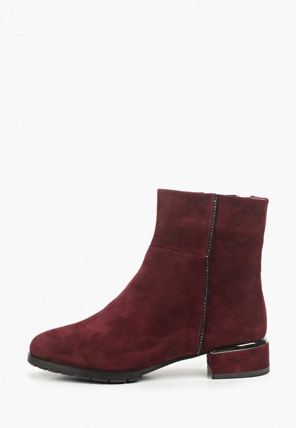 женские высокие ботинки ridlstep, бордовые