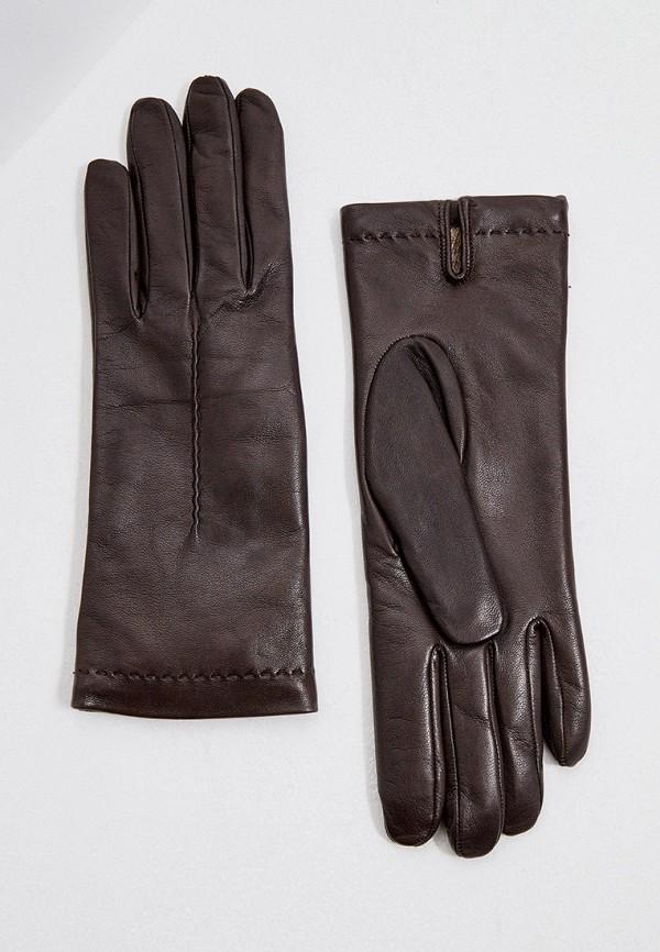 женские кожаные перчатки falconeri, коричневые
