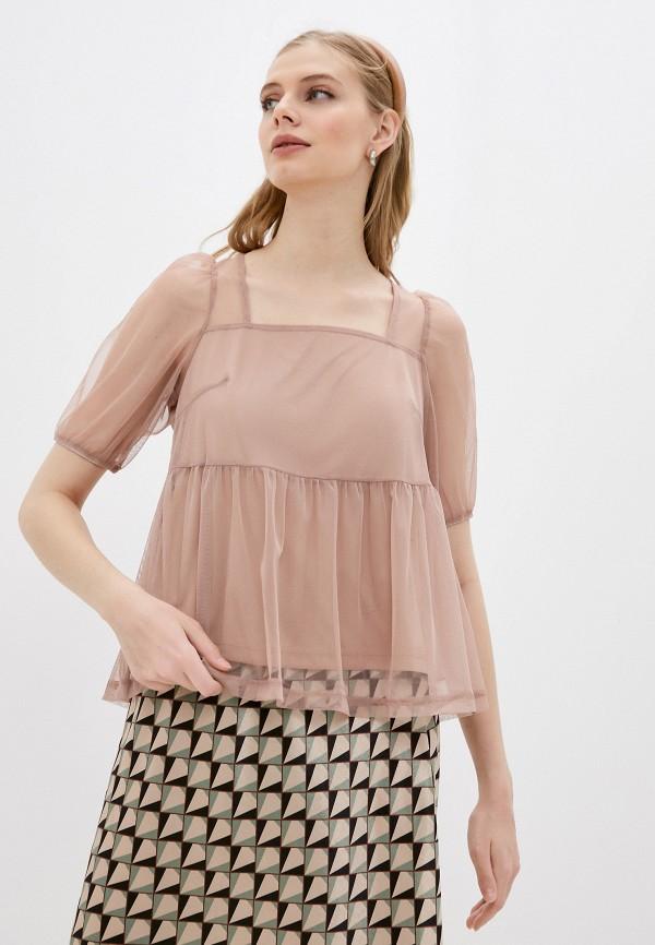 Блуза Sela бежевого цвета