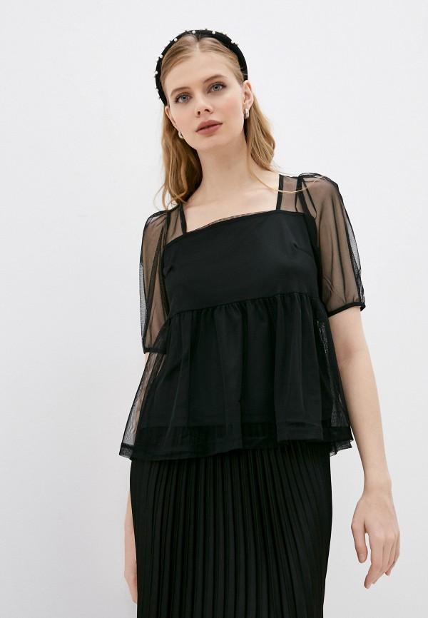 Блуза Sela черного цвета