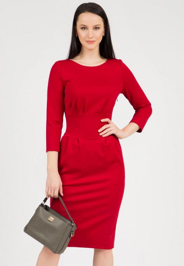 женское платье-футляр grey cat, красное