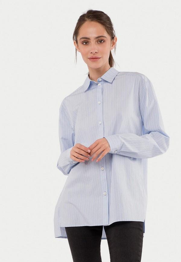 женская рубашка с длинным рукавом mr520, голубая