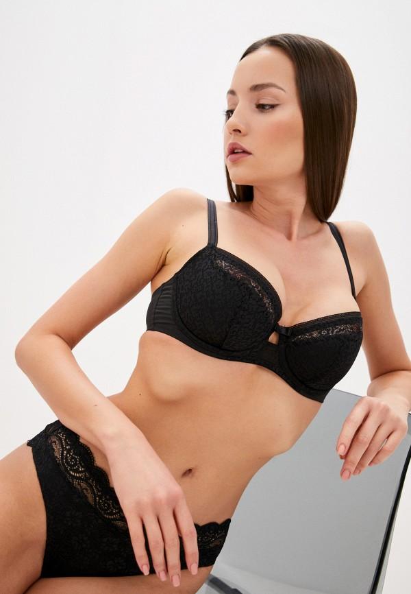 женский бюстгальтер на косточках triumph, черный