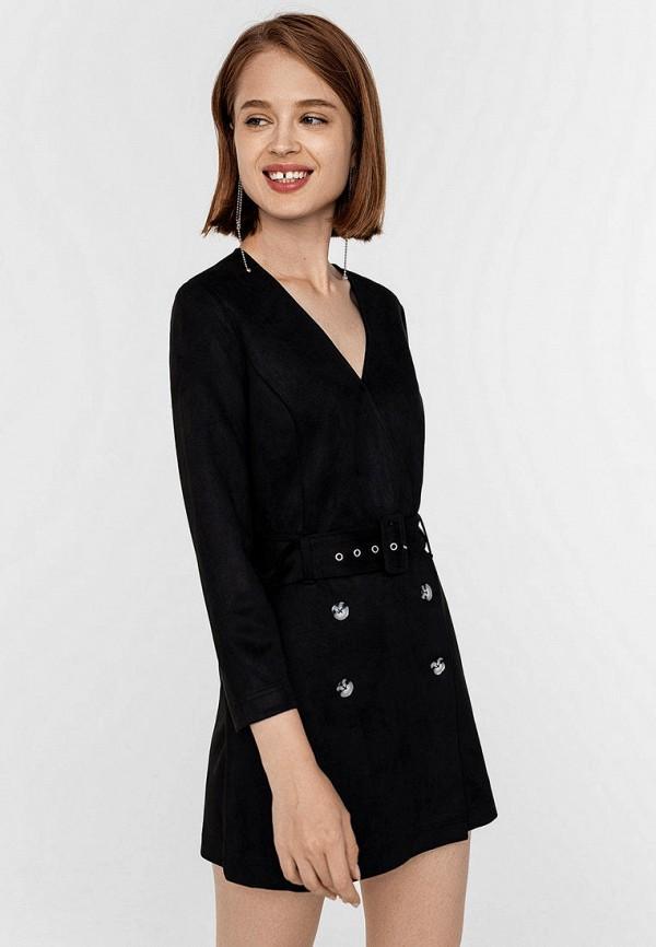 женский комбинезон с шортами befree, черный