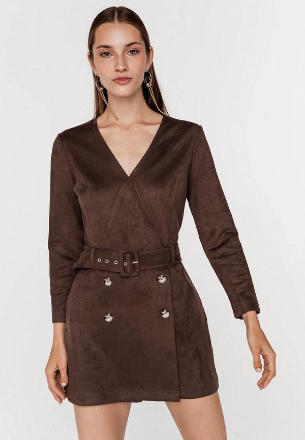 женский комбинезон с шортами befree, коричневый