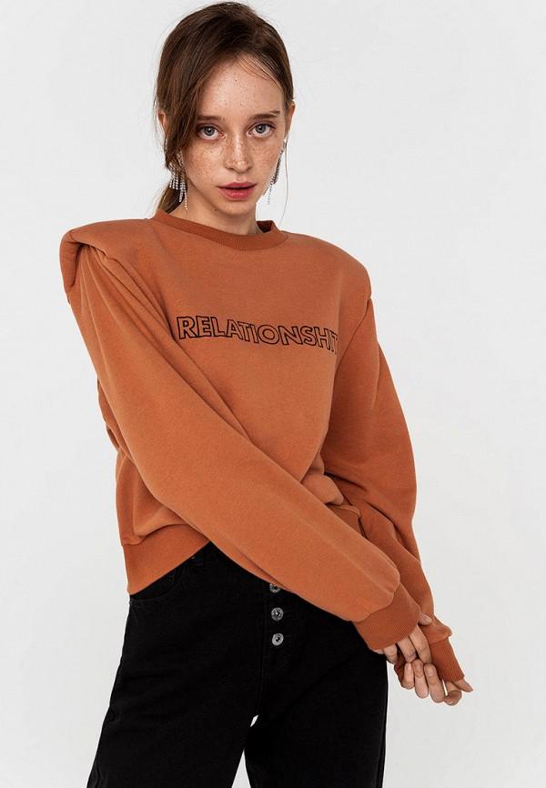 женский свитшот befree, коричневый
