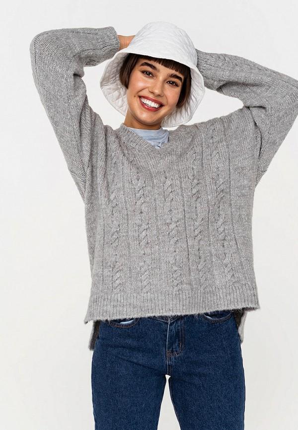 женский пуловер befree, серый