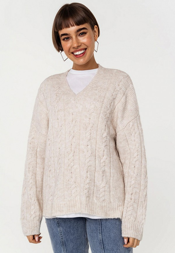 женский пуловер befree, бежевый