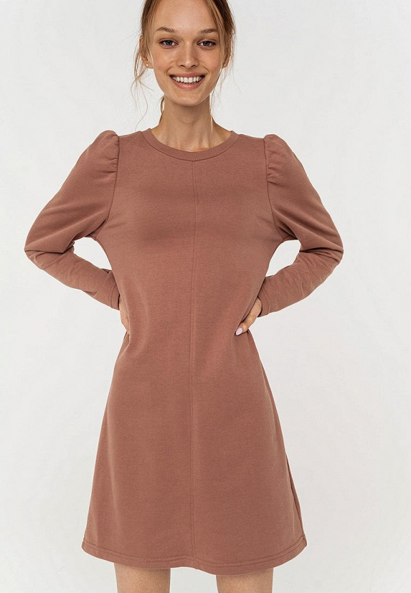 женское повседневные платье befree, коричневое