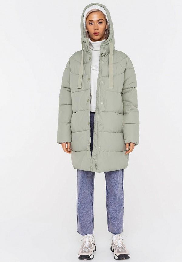 женская утепленные куртка befree, бирюзовая