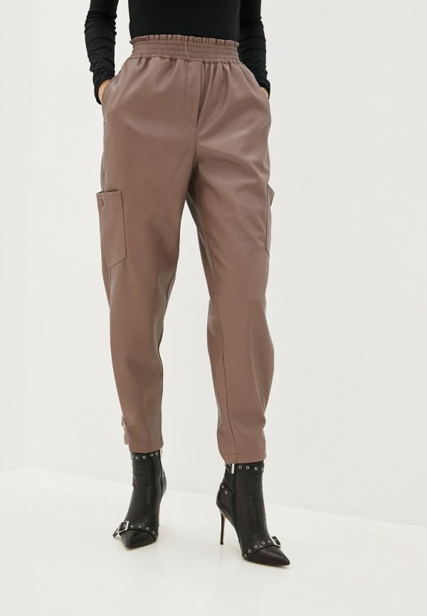 женские кожаные брюки sela, бежевые