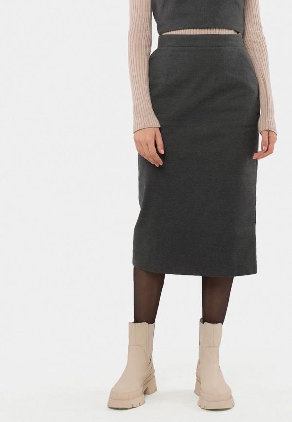 женская прямые юбка mr520, коричневая