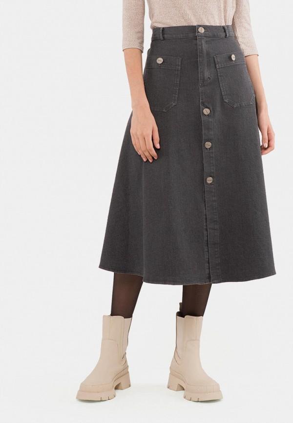 женская джинсовые юбка mr520, серая