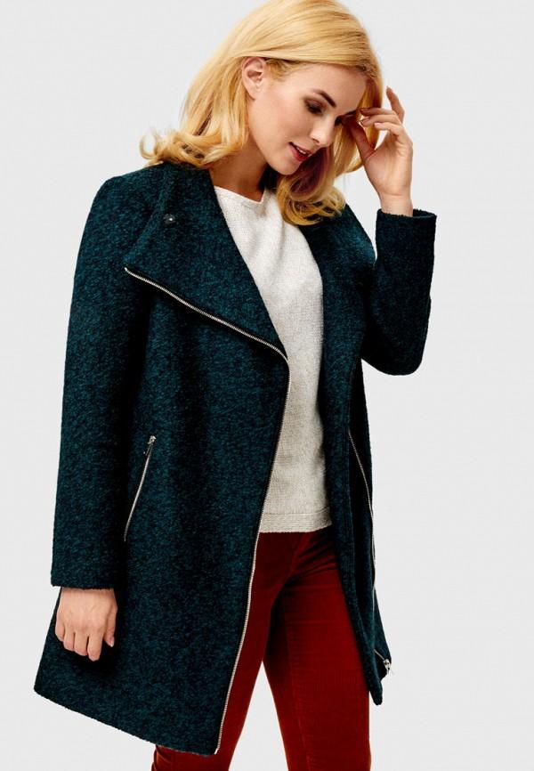 женское пальто o'stin, бирюзовое
