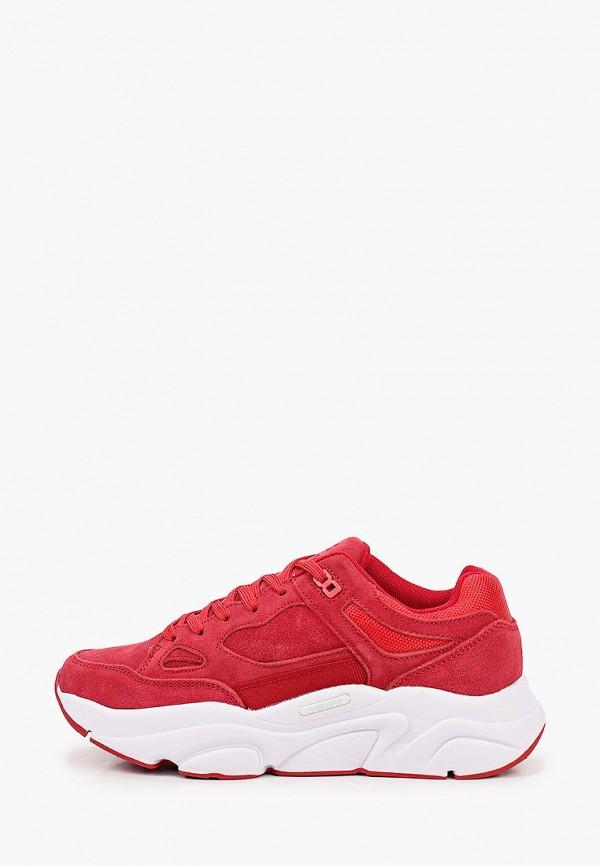 женские низкие кроссовки sigma, красные