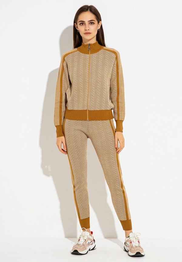 женский спортивный костюм itelle, коричневый