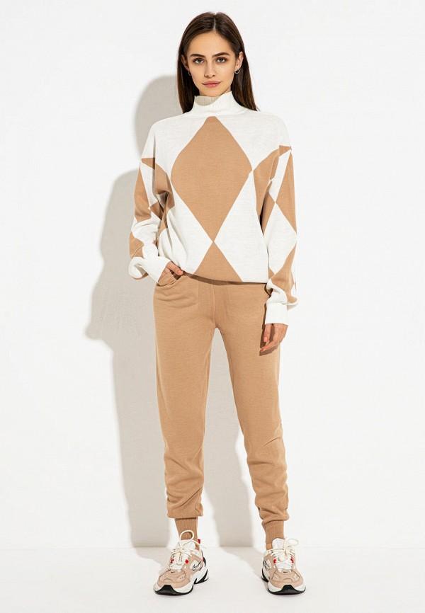 женский костюм itelle, коричневый