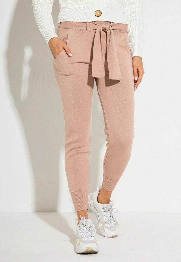 женские повседневные брюки itelle, розовые