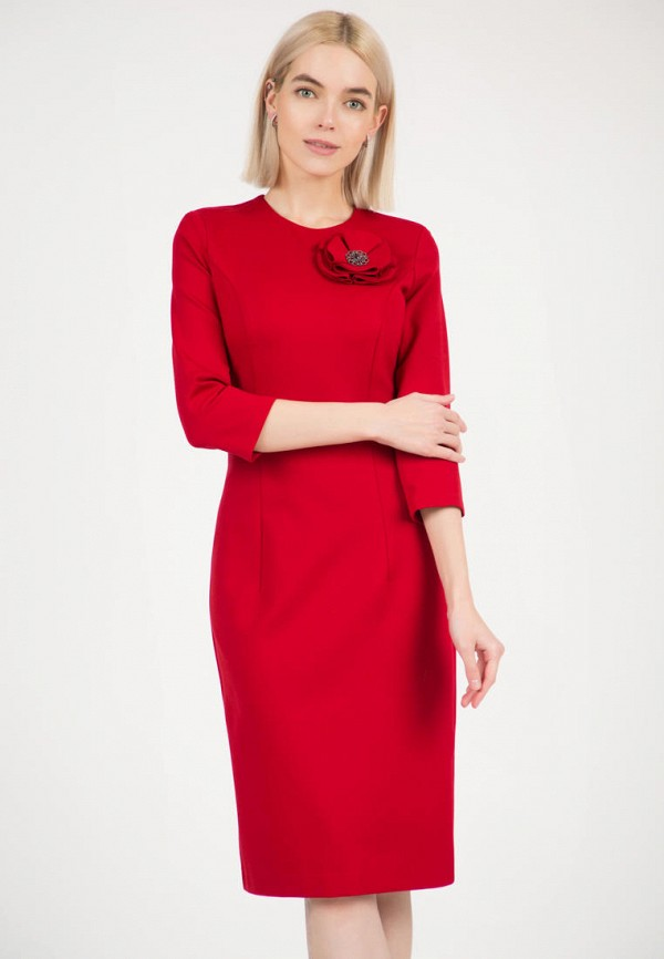 женское платье-футляр olivegrey, красное