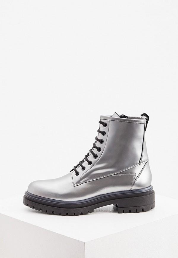 женские высокие ботинки hugo, серебряные