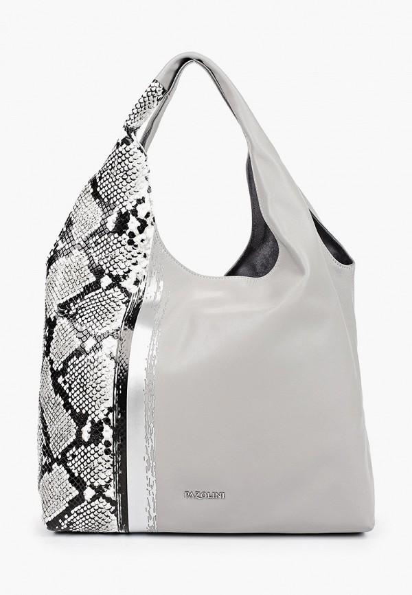 женская сумка-шоперы pazolini, серая