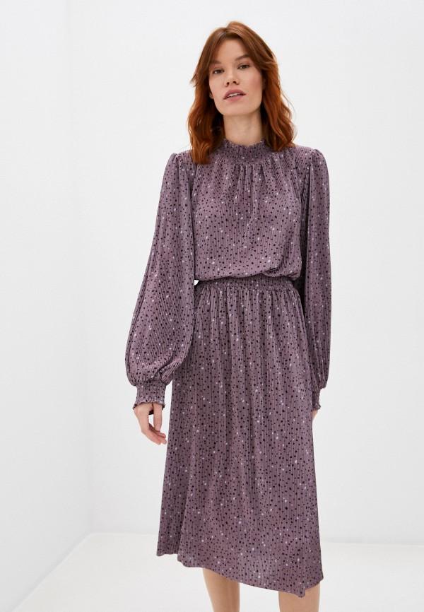 женское повседневные платье sela, коричневое